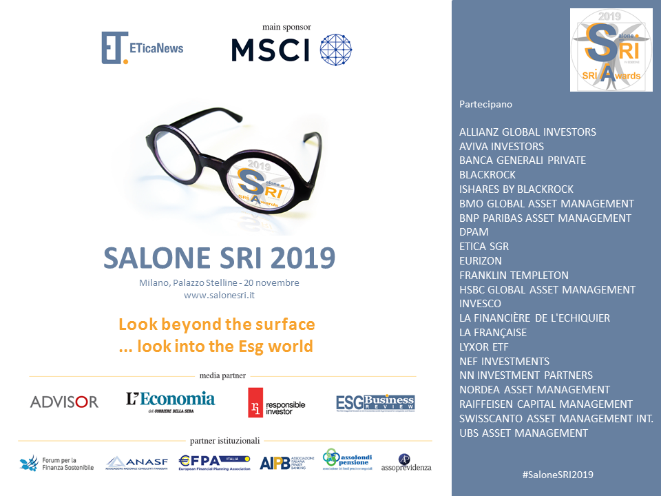 Save the date Salone SRI 2019
